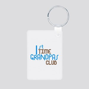 1st Time Grandpas Club (Blue) Aluminum Photo Keych